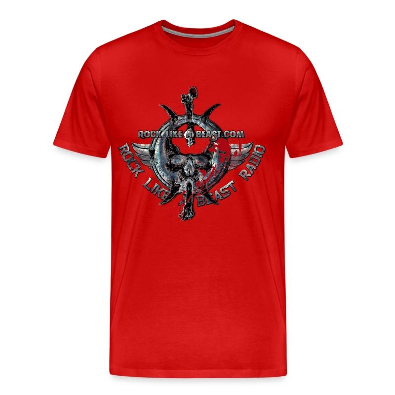 BloodSkull3.png - Premium-T-shirt herr