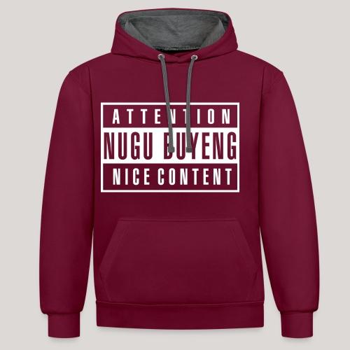Nice Content | Hoodie - Nugu Buyeng [Red] - Kontrast-Hoodie