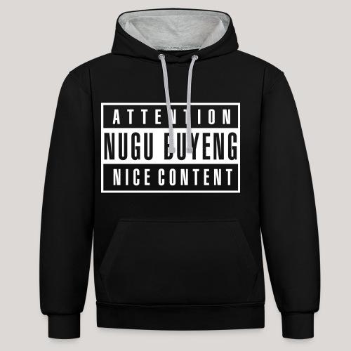 Nice Content | Hoodie - Nugu Buyeng [Black] - Kontrast-Hoodie