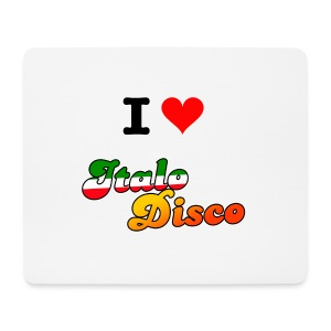 I Love Italo Disco Mouse Pad (horizontal) - Musematte (liggende format)