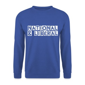 Sweat homme national-libéral décomplexé  - Sweat-shirt Homme
