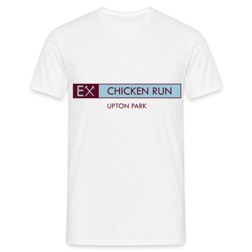 Ex - Chicken Run mens white retro T-shirt - Men's T-Shirt