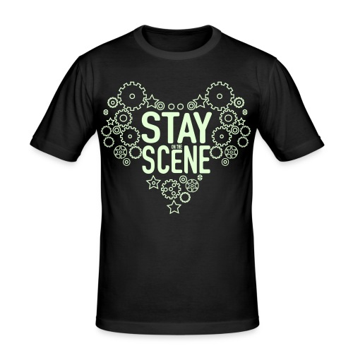 Stay on the scene and glow in the dark - Slim Fit T-shirt herr