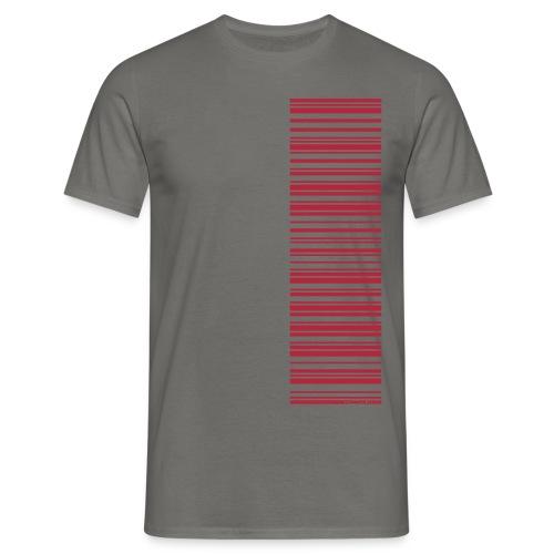 Barcode-T-Shirt Volleyballer, verschiedene Farben - Männer T-Shirt