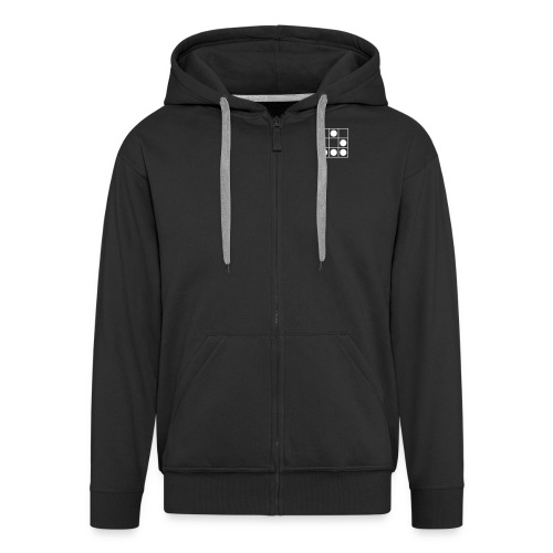 Black hoodie jacket with hacker logo - Men's Premium Hooded Jacket