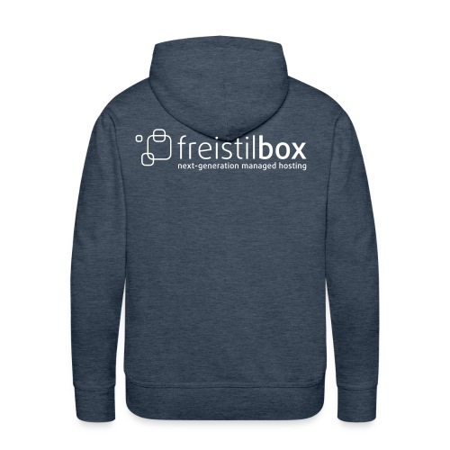 Green hoodie with freistilbox logo - Men's Premium Hoodie
