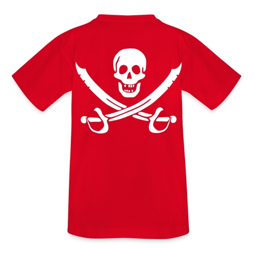 Piratenshirt Kind Weiß-Rot - Teenager T-Shirt