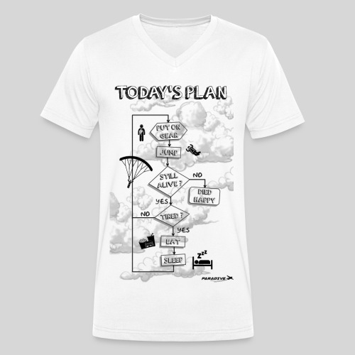 Today's plan - Homme col V - T-shirt bio col V Stanley & Stella Homme