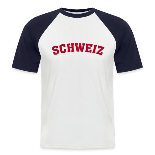 Schweiz Shirt - Männer Baseball-T-Shirt