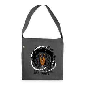 Black and Tan Tasche - Schultertasche aus Recycling-Material