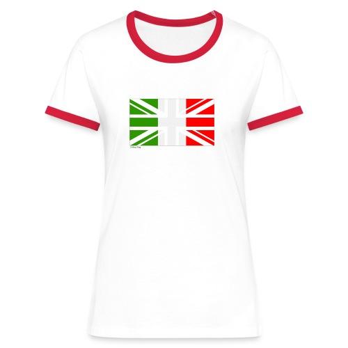 Italy UK Mixed Flag - Women's Ringer T-Shirt