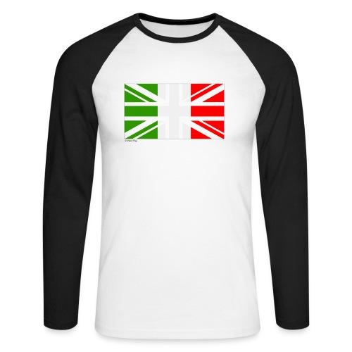 Italy UK Mixed Flag - Men's Long Sleeve Baseball T-Shirt