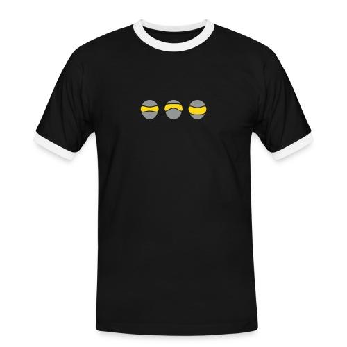 Brillen Face 3 Shirt - Männer Kontrast-T-Shirt