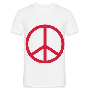 T-shirt Peace And Love - T-shirt Homme