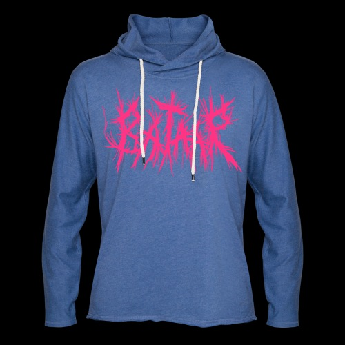 VICIOUS PINK Neon Pink on Heather Blue Hoodie - Light Unisex Sweatshirt Hoodie