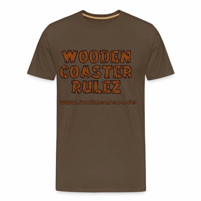 Shirt - Wooden Coaster - Männer Premium T-Shirt