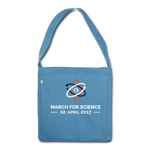 March for science - Recycling-Schultertasche - Schultertasche aus Recycling-Material