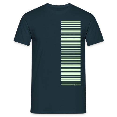 Barcode-T-Shirt Volleyballer, selbstleuchtend, verschiedene Farben - Männer T-Shirt