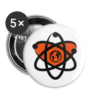 I love Science - 5 Buttons mittelgroß - Buttons mittel 32 mm