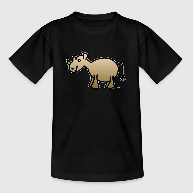 nashorn wei e kontur t shirt spreadshirt. Black Bedroom Furniture Sets. Home Design Ideas