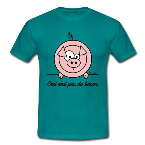 T-shirt homme Cochon, Ceci n'est pas du Bacon - T-shirt Homme
