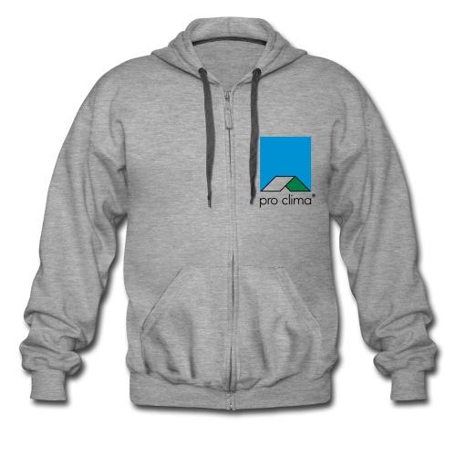 Herrenjacke, grau, Windsurfing + pro clima - Männer Premium Kapuzenjacke