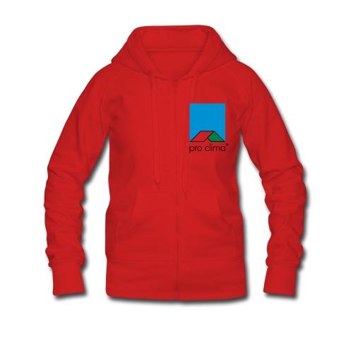 Girlie-Jacke, rot, Windsurfing + proclima - Frauen Premium Kapuzenjacke