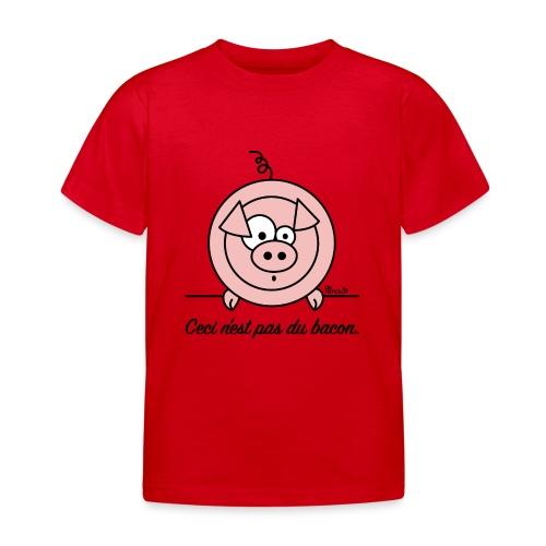 T-shirt Enfant Cochon, Ceci n'est pas du Bacon - T-shirt Enfant
