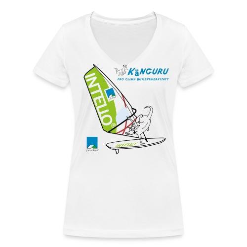Girlie-Shirt Windsurfing + Känguru - Frauen Bio-T-Shirt mit V-Ausschnitt von Stanley & Stella
