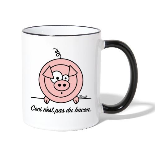 Tasse Bicolore Cochon, Ceci n'est pas du Bacon - Mug contrasté