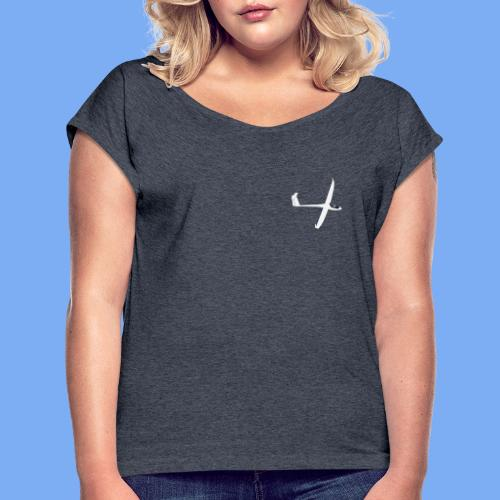 Segelflugzeug sailplane - Women's T-Shirt with rolled up sleeves