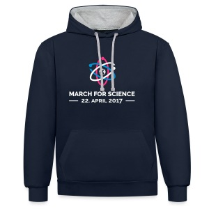 March for science - Männer Kontrast-Hoodie - Kontrast-Hoodie