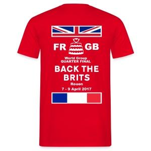 Murraynators - Davis Cup Rouen. Mens Red T-shirt. - Men's T-Shirt