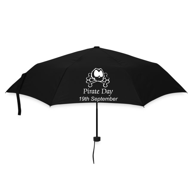 Parapluie noir Pirate Day
