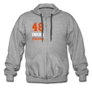 Sweat à capuche zippé 48 enduro University Grey Orange Homme - Veste à capuche Premium Homme