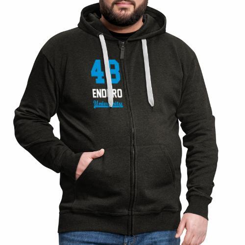 Sweat à capuche zippé 48 enduro University Grey Blue Homme - Veste à capuche Premium Homme