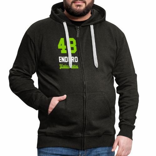 Sweat à capuche zippé 48 enduro University Grey Green Homme - Veste à capuche Premium Homme