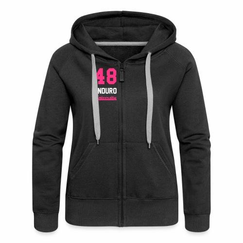 Sweat à capuche zippé 48 enduro University Black Pink Femme - Veste à capuche Premium Femme