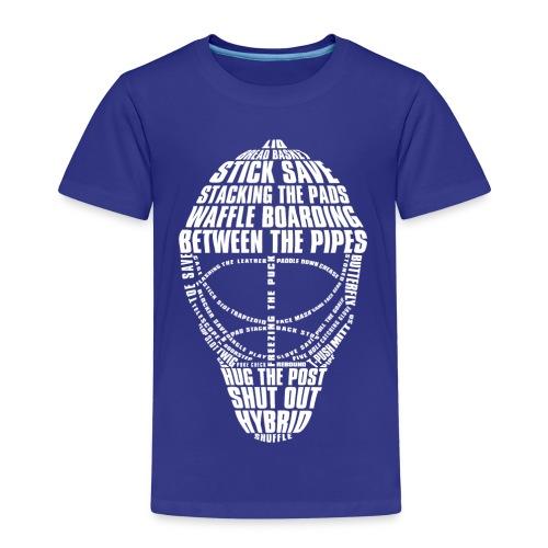Hockey Goalie Mask Typography Children's T-Shirt - Kids' Premium T-Shirt