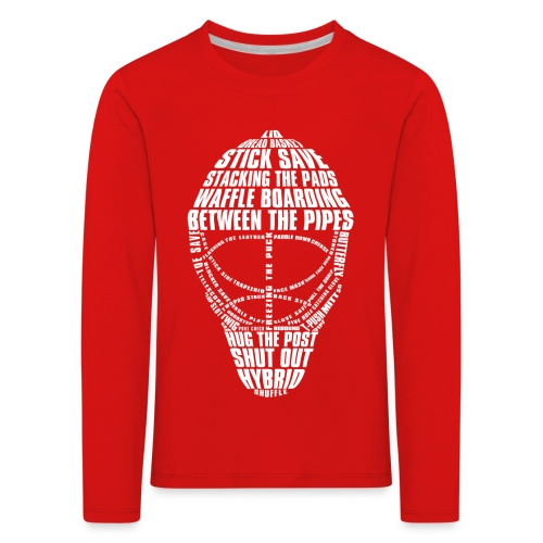Hockey Goalie Mask Typography Children's Long Sleeve T-Shirt - Kids' Premium Longsleeve Shirt