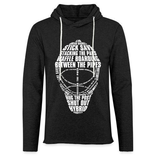 Hockey Goalie Mask Typography Unisex Light Hoodie - Light Unisex Sweatshirt Hoodie