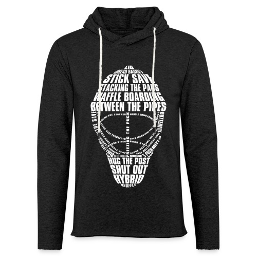 Hockey Goalie Mask Typography Unisex Light Hoodie - Light Unisex Sweatshirt Hoodie