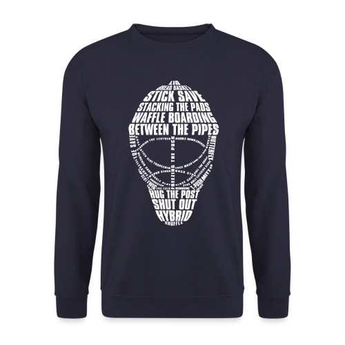 Hockey Goalie Mask Typography Men's Sweatshirt - Men's Sweatshirt