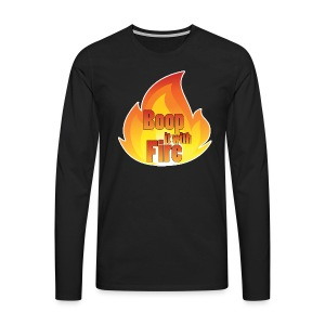 Men's Fire Long Sleeved Top - Men's Premium Longsleeve Shirt