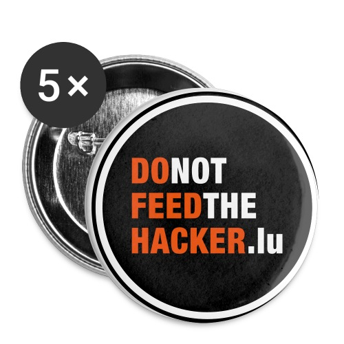 Do not feed the Hacker! (Black S) - Buttons small 25 mm