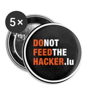 Do not feed the Hacker! (Black M) - Buttons medium 32 mm