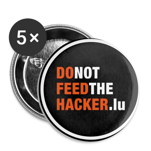 Do not feed the Hacker! (Black M) - Buttons medium 32 mm