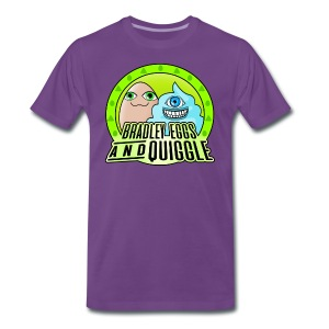 Bradley Eggs & Quiggle - Purple/Green - Men's Premium T-Shirt