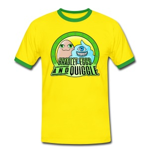 Bradley Eggs & Quiggle - Green/Yellow - Men's Ringer Shirt