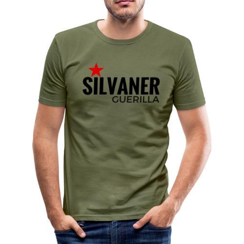 Herren Shirt: Silvaner Guerilla - Oliv - Männer Slim Fit T-Shirt